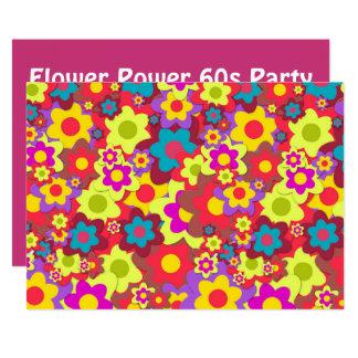 Retro Partythema des Hippy 60ers Karte