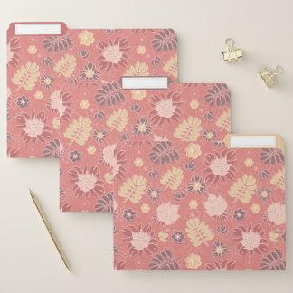 Retro Pastellblumen im Rosa Papiermappe