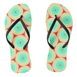 Retro Pastelle in den Kreisen Flip Flops