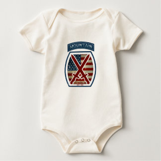 Retro patriotische 10. Gebirgsabteilung Baby Strampler