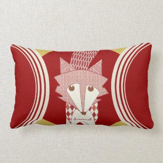 Retro personalisiertes rotes Stylized Fox-Kissen Lendenkissen