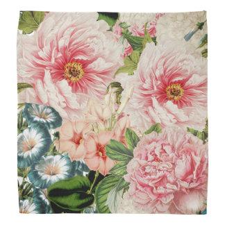 Retro Pfingstrosen-Blumen-Frühlings-Blumenmuster Kopftuch