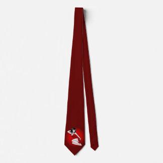 Retro Pinup-Mädchen-Krawattenfünfziger jahre Krawatte