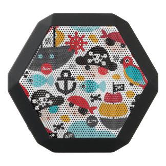 Retro Piratenillustrationssegeln Schwarze Bluetooth Lautsprecher