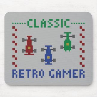 Retro Pixel-Rennen Mousepads