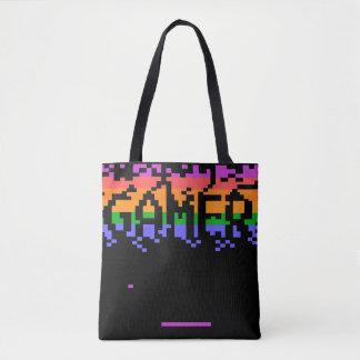 Retro Pixelated Gamer-Taschen-Tasche Tasche