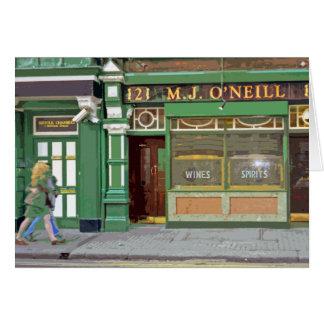 Retro Plakat-ähnliche Karte Dublins