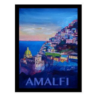 Retro Plakat-Amalfi-Küste Italien Postkarte