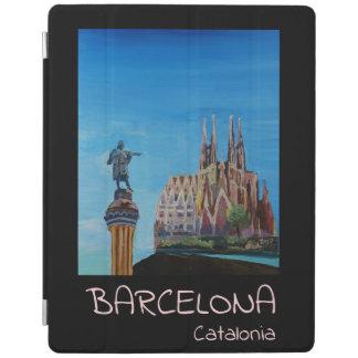 Retro Plakat Barcelonas Spanien iPad Hülle