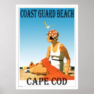 Retro Plakat Küstenwache-Strand-Cape Cods