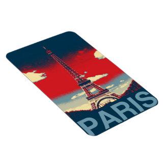 retro Plakat Vintager Turm Frankreichs Paris Eckige Magnete