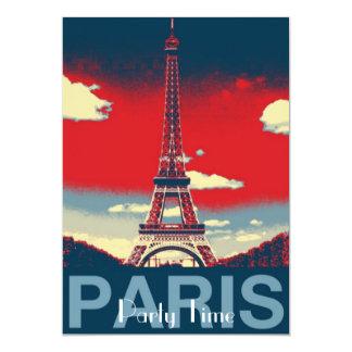 retro Plakat Vintager Turm Frankreichs Paris Karte