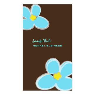 Retro Plumerias + chocolate/DIY Hintergrundfarbe Visitenkartenvorlage