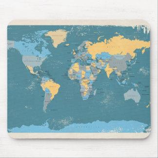 Retro politische Karte der Welt Mauspad