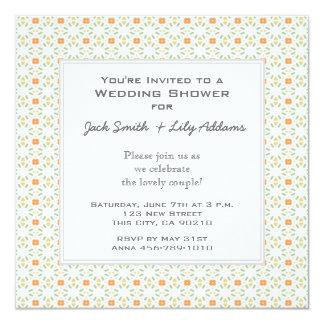 Retro Polterabend-Einladung - Orange Quadratische 13,3 Cm Einladungskarte