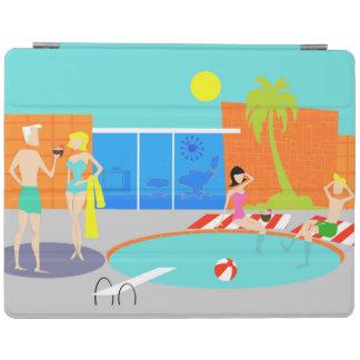 Retro Pool-Party iPad Abdeckung iPad Hülle