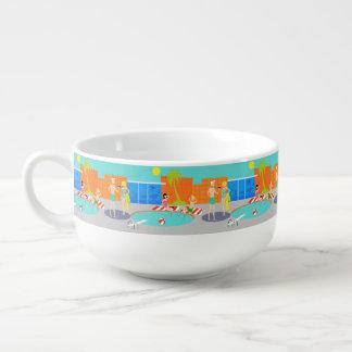 Retro Pool-Party-Suppen-Tasse Große Suppentasse