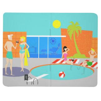 Retro Pool-Party-Zeitschrift Taschennotizbuch