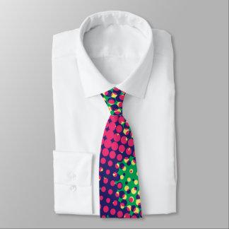 Retro Pop-Kunst-psychedelische Polka-Punkte Krawatte