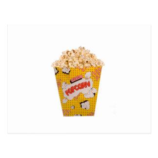 Retro Popcorn - Farbe Postkarte