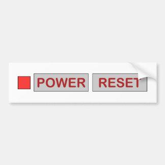 Retro Power-Zurückstellen-Spiel-Konsole für Autoaufkleber