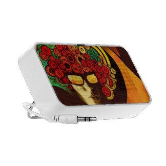 Retro psychedelisches Gekritzel Mini Lautsprecher