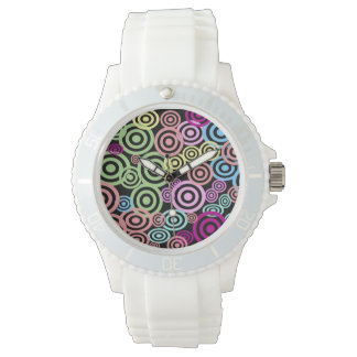 Retro Punktart Armbanduhr