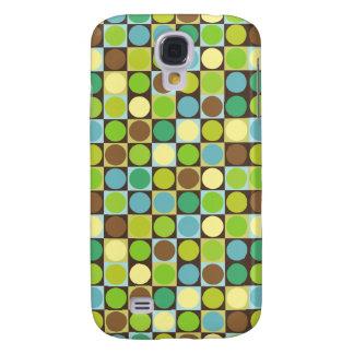 Retro Punkte und Quadrate Galaxy S4 Hülle
