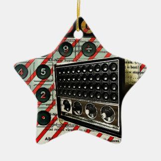 Retro RadioLautsprecher kurzer Wellen-Radio Keramik Stern-Ornament