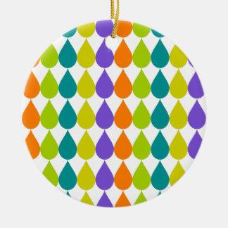 Retro Raindrops3 Keramik Ornament