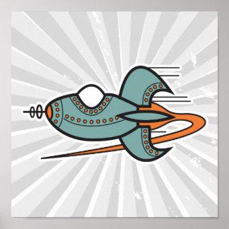 Retro Rakete Poster