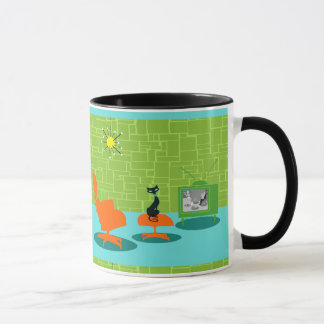 Retro Raum-Alterkitty-Tasse Tasse