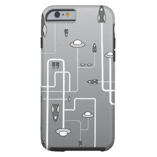 Retro Raum-Flug Tough iPhone 6 Hülle