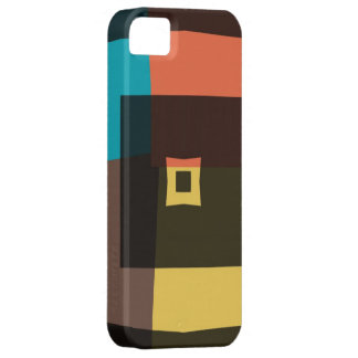 Retro Rauten-Quadrate 4 iPhone 5 Etui