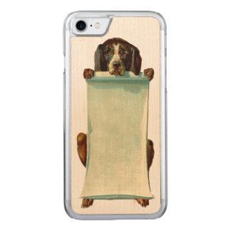 RETRO REBELLENhundiPhone 5/5S nehmen Holz ab Carved iPhone 7 Hülle