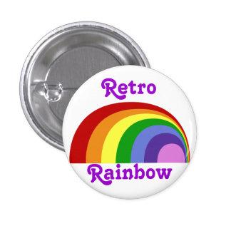 Retro Regenbogen-Knopf Runder Button 3,2 Cm