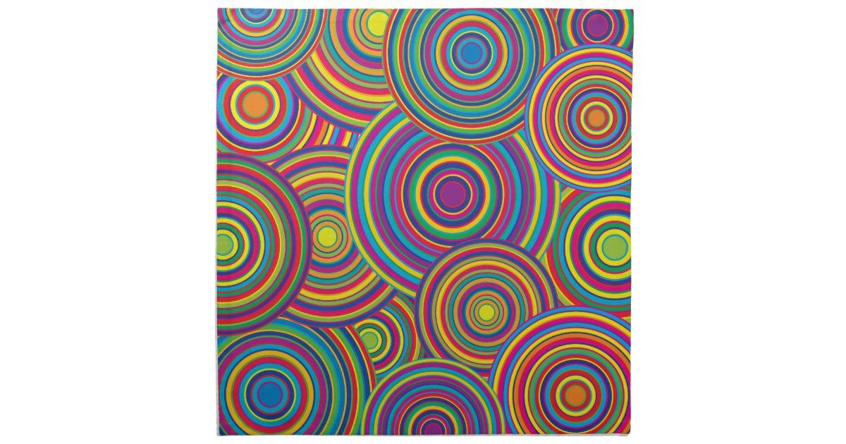 Retro regenbogen kreist muster ein servietten zazzle for Tisch design servietten