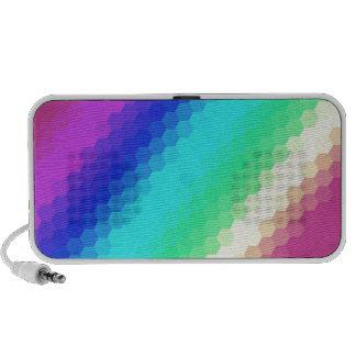 Retro Regenbogen Mobiler Speaker