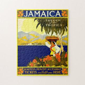 Retro Reise-Plakat Jamaika Puzzle