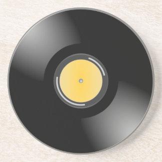 Retro Rekordalbum-durstiger Untersetzer mit 45