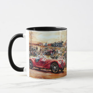 Retro Rennwagenmalerei Tasse