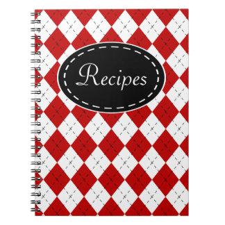 Retro Rezept-Küchen-Notizbuch-Geschenk Notizblock