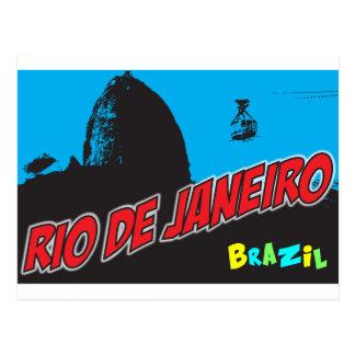 Retro Rio de Janeiro Brasilien Postkarte