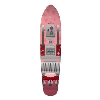 Retro Roboter-Skateplattform Skateboardbrett
