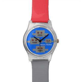 Retro Roboter-Uhr