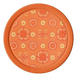 Retro Rockabilly Vintage Bandanna-Mandarine-Orange Poker Chips