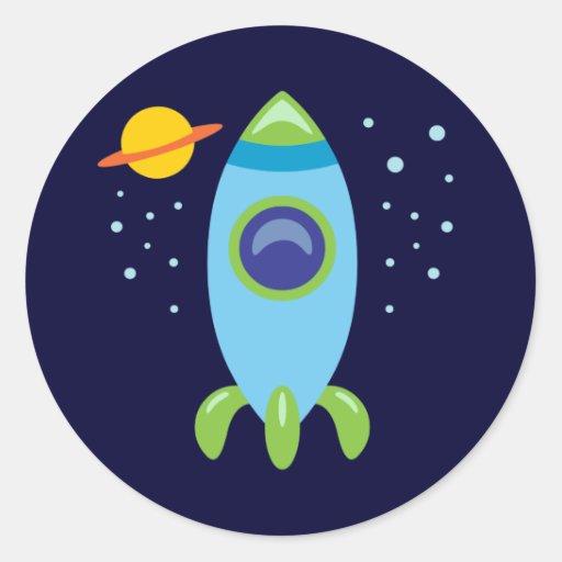 Retro Rocket Sticker