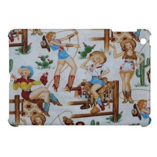 Retro Rodeo-Cowgirls iPad mini glatter Endfall iPad Mini Schale