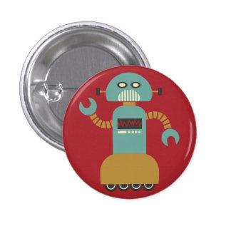 Retro Rollen-Roboter-Flair-Knopf Runder Button 2,5 Cm