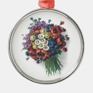 Retro romantischer bunter Vintager Blumenblumenstr Weihnachtsbaum Ornament